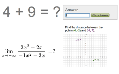 Math exercise screenshot