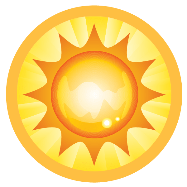 a large illustration of a Sun